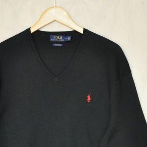 Polo Ralph Lauren Pima Cotton V Neck Sweater L